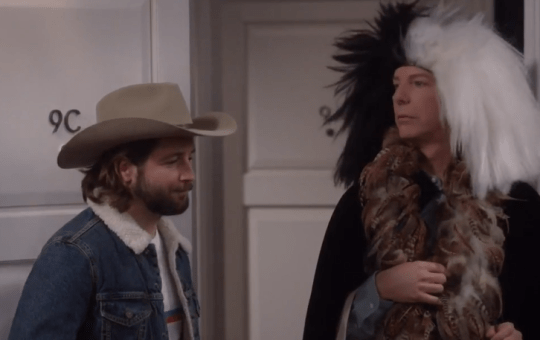 Q-Force Sean Hayes in Will and Grace S9 ratings episode 4 Grandpa Jack