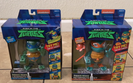 Rise of the Teenage Mutant Ninja Turtles Babble Heads review Playmates Toys