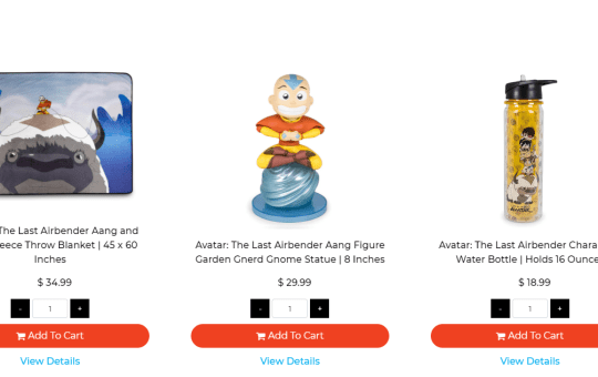 The Last Airbender home goods toynk