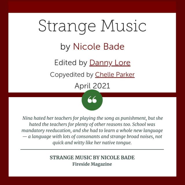 Strange music by Nicole Bade