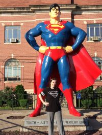 Me and the Superman Statue