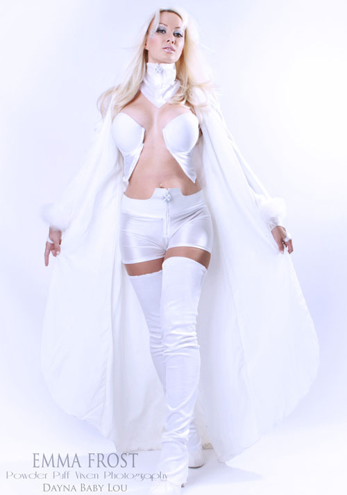 Emma Frost cosplayed by Dayna Baby Lou