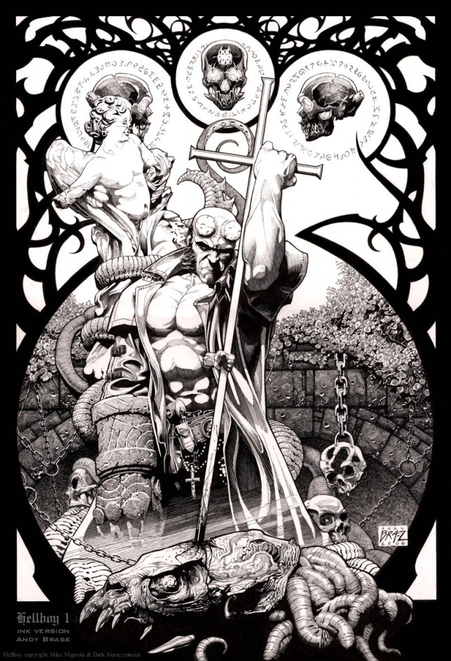 Hellboy - Cross to the Head by Andy Brase