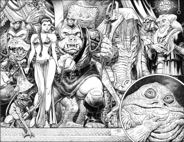 Jabba the Hut's lair by Arthur Adams