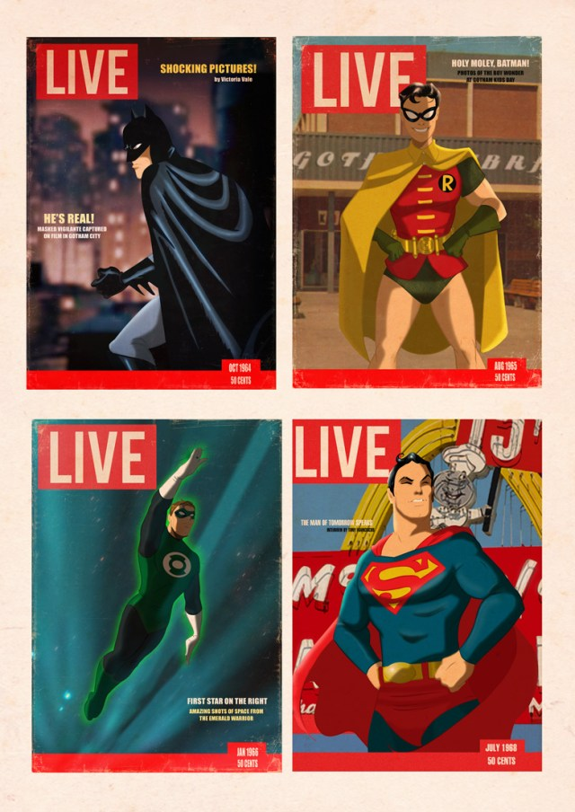 Live Superhero covers