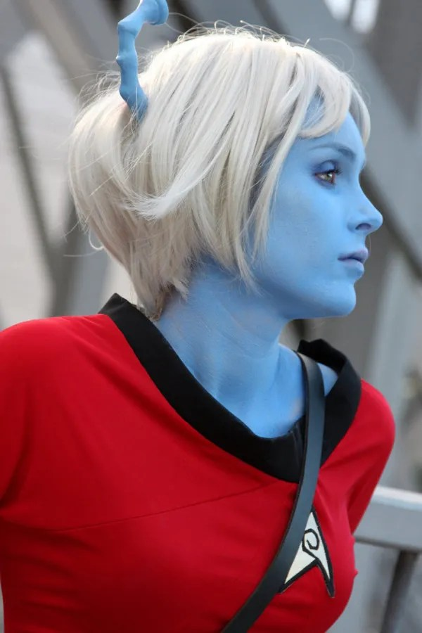 Star Trek Blue Alien cosplay