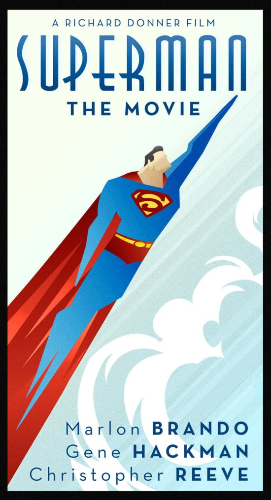 Superman The Movie Art Deco Poster