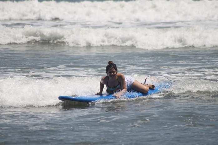 First time surfing in Baler, Aurora