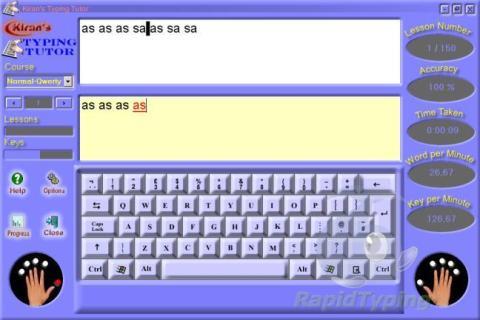 kirans typing tutor