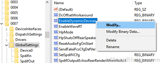 Enable Dynamic Devices Min