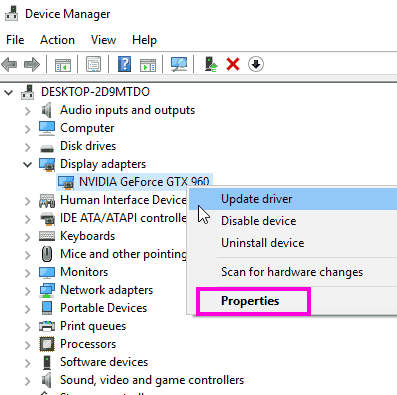Driver Properties Fix Nvidia Installer Cannot Continue Error Windows 10