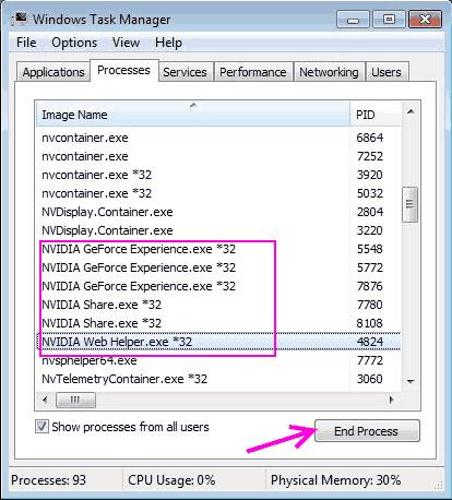 End Process Fix Nvidia Installer Cannot Continue Error Windows 10