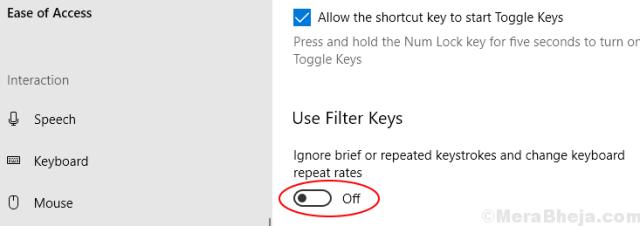 Filter Keys Turn Off Min