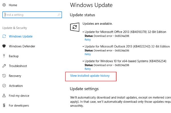 Installed Updates Wacom Pen Not Working Windows 10