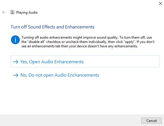 No Sound Troubleshoot