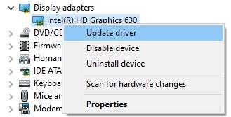 Intel Display Driver Update
