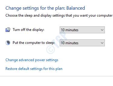 Check Power Settings