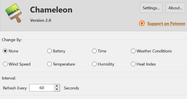 Chamaleon Live Wallpaper Windows 10 Min