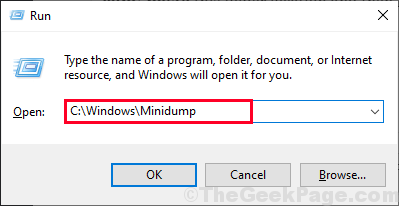 Minidump Run