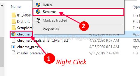 Chrome Rename
