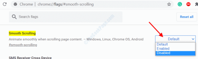 Chrome Smooth Scrolling