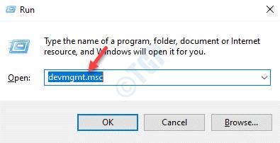 Run Command Devmgmt.msc Enter