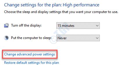 Change Advanced Power Min