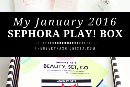 January Sephora Play! Box // The Geeky Fashionista