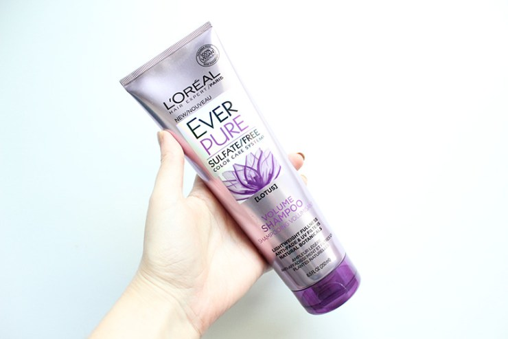 L'Oreal EverPure Volume Shampoo and Conditioner Review // The Geeky Fashionista