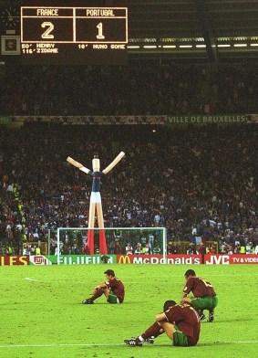 Europeo 2000: sconforto dei giocatori portoghesi