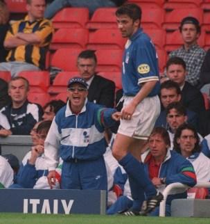 Europeo 1996: Arrigo Sacchi e Alex Del Piero