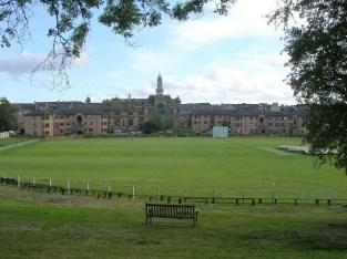 Il campo di Hamilton Crescent dove fu giocata la partita tra Scozia e Inghilterra