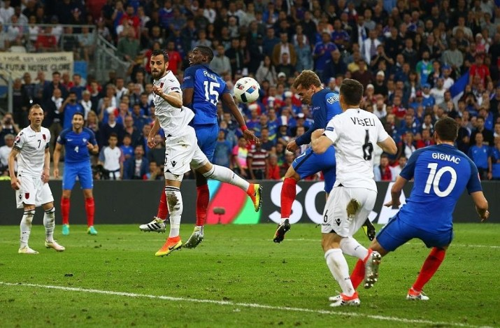 Gol di Griezmann in Francia-Albania