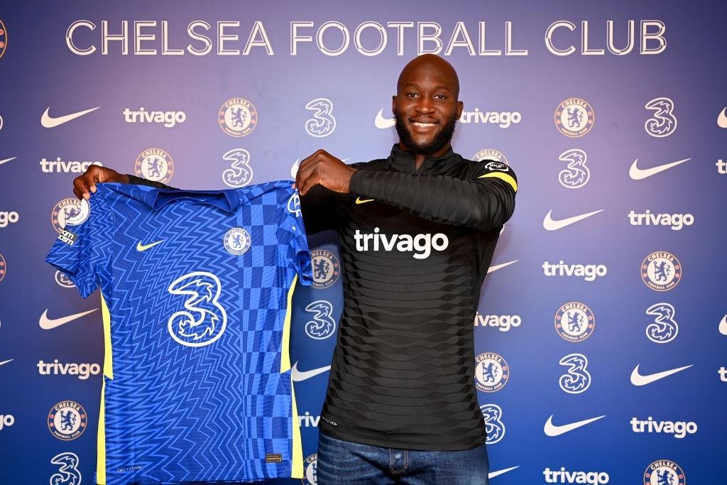 Lukaku alla presentazione con il Chelsea