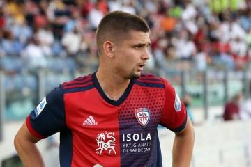 Marin con la maglia del Cagliari