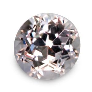 Natural Gemstone, Jewellery, Jewelry, Morganite, Beryl, Africa, African, Light, Pink, Light Pink, Round, Brilliant, Near Colourless