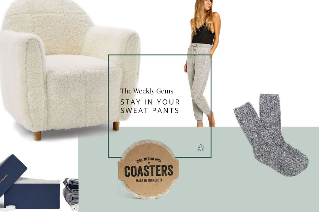 A selection of the coziest items to hang out at home