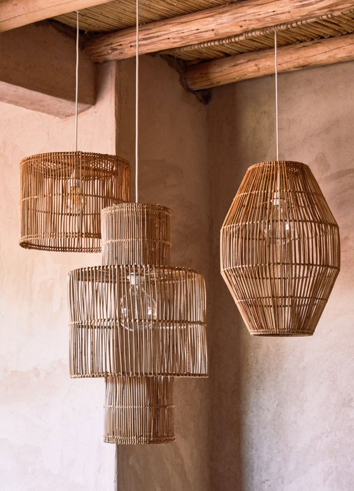 handmade decor items rattan hanging lamp