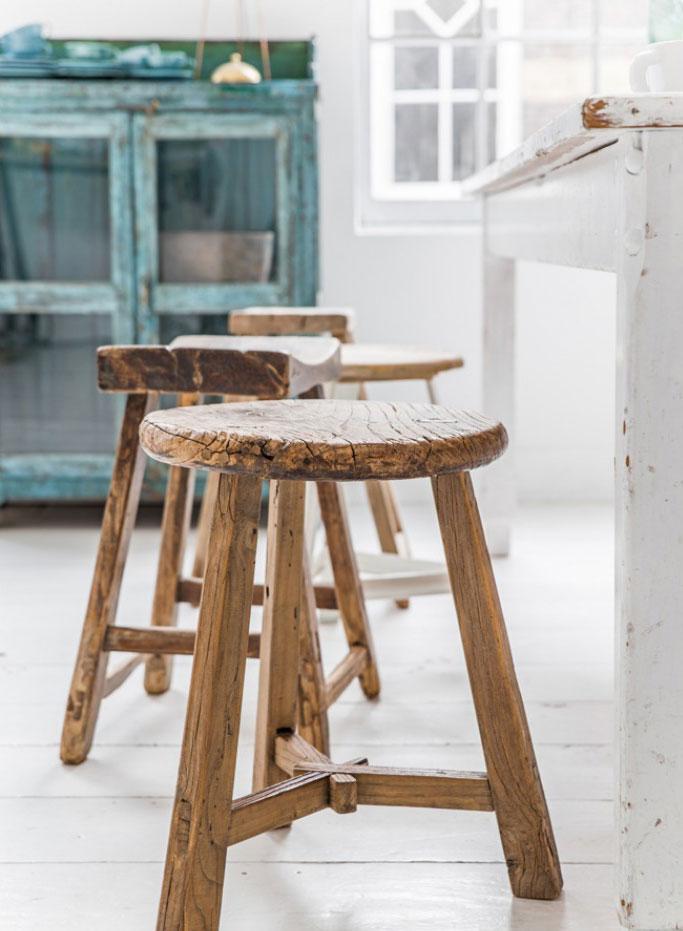 handmade decor items wooden stool