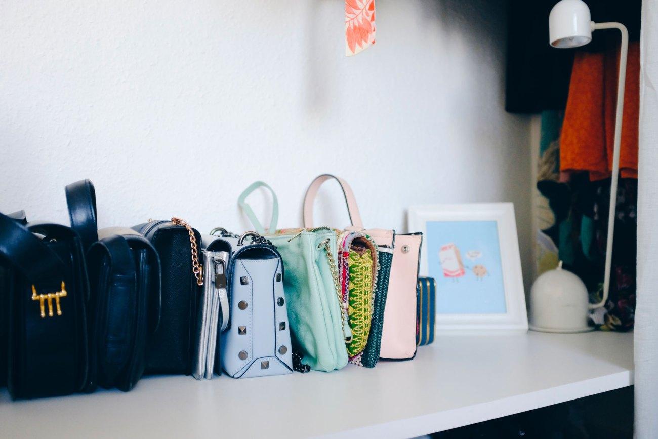 Open wardrobe DIY - close up of my purses