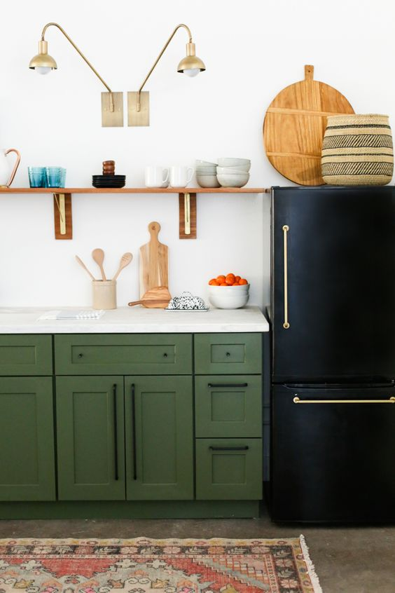 Kitchen rental remodel -disguise the  fridge