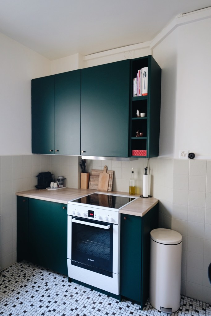 A Dark Green Ikea Kitchen Makeover The Gem Picker