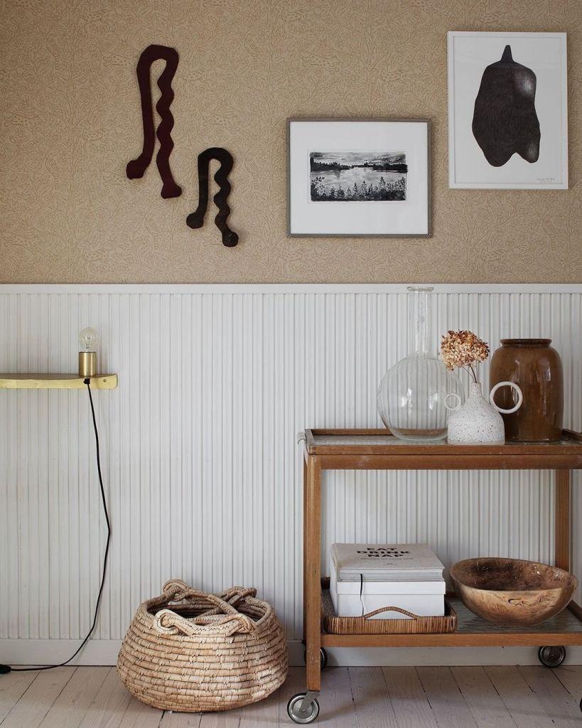 Decorating with wallpaper sandberg eden mustard