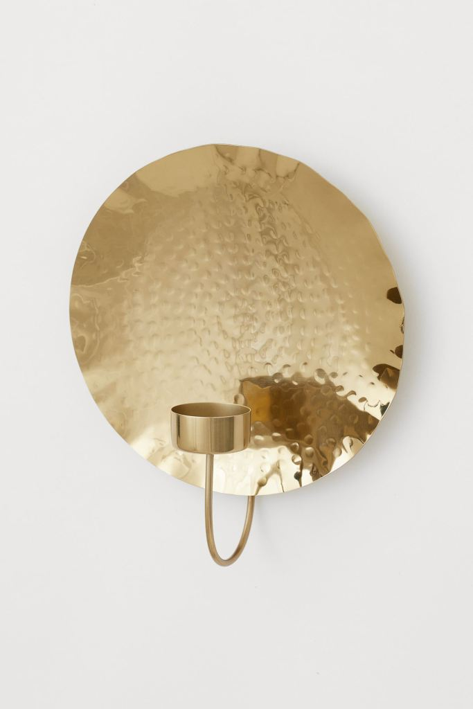 rustic brass candle sconce by H&M home