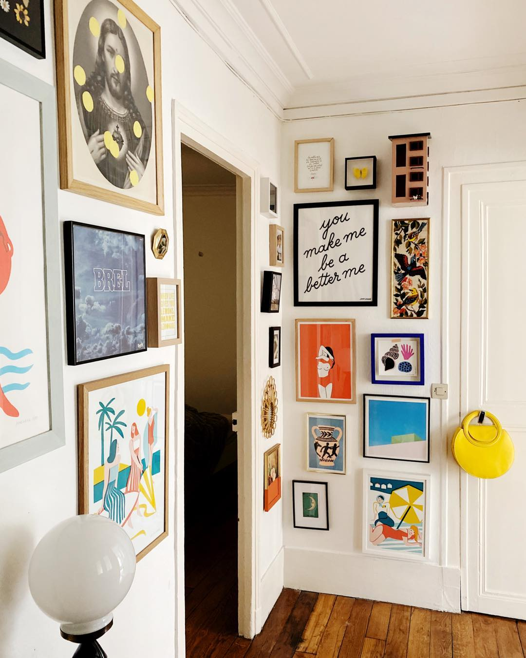 gallery wall ideas-awkward corner