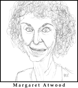 Margaret Atwood Sketch by M.R.P. - The Handmaid's Tale - America, tradition, conservatism, theocracy