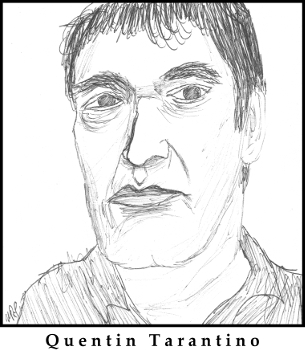 Quentin Tarantino Sketch by M.R.P. - Jackie Brown - unique