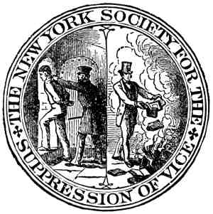 The New York Society for the Suppression of Vice Emblem - moral realism - nihilism - pragmatism