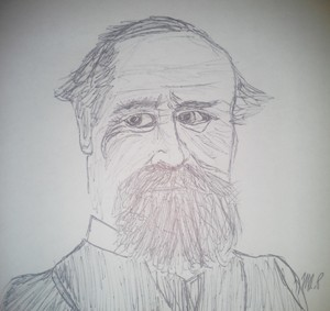 William James Sketch by M.R.P. - moral realism - nihilism - pragmatism