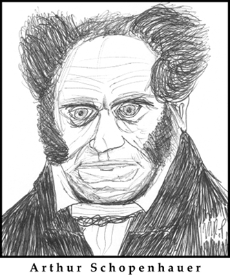 Arthur Schopenhauer Sketch by M.R.P. - compatibilism - free will - determinism